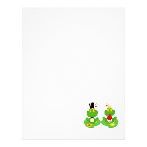 bride and groom froggy frogs customized letterhead