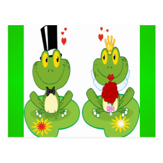 Bride and Groom Frogs Postcards