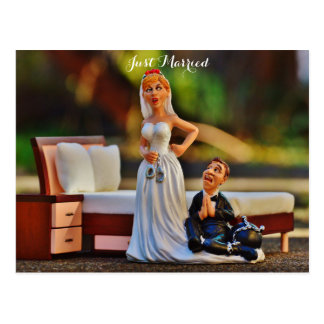 bride-and-groom-funny picture postcard