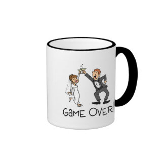 Bride and Groom Game Over Mugs