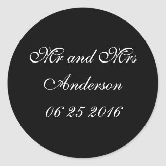 Bride and Groom Gear   Wedding Round Sticker