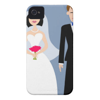 Bride And Groom Illustration iPhone 4 Case