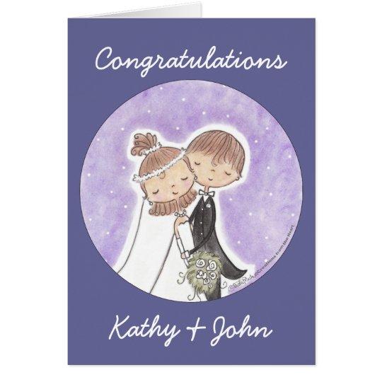 Bride and Groom Kids Card