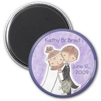 Bride and Groom Kids Magnet