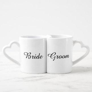 """Bride and Groom"" Nesting Mugs Lovers Mug"