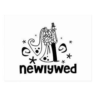 Bride and Groom Newlywed Postcard