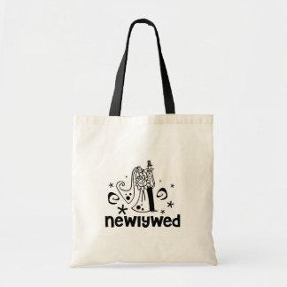 Bride and Groom Newlywed Tote Bag