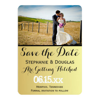 "Bride and groom on a field/Save The Date 5"" X 7"" Invitation Card"