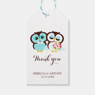 Bride and Groom Owls Pack Of Gift Tags
