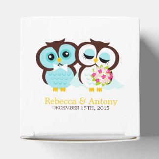 Bride and Groom Owls Wedding Party Favor Box
