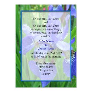 Bride and groom parents'  wedding invitation
