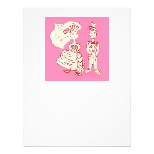 Bride and Groom Pop Art Letterhead Template