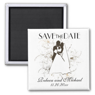 Bride and Groom Save the Date magnets
