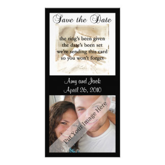 Bride and Groom Save the Date Photo Card