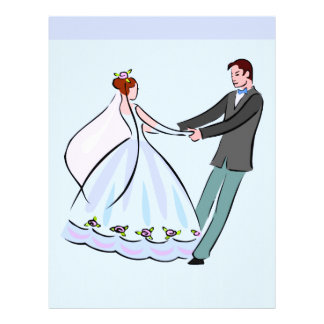 Bride and Groom Scrapbook Paper Custom Letterhead