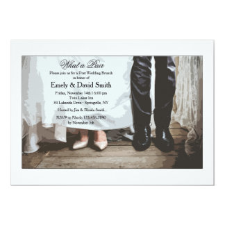 Bride and Groom Shoes Invitation