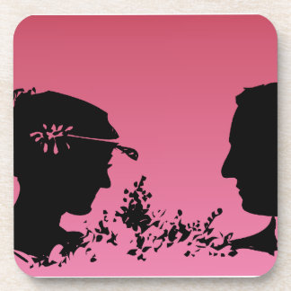 Bride and Groom Silhouette Coasters