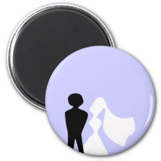 Bride and Groom Silhouette Magnet