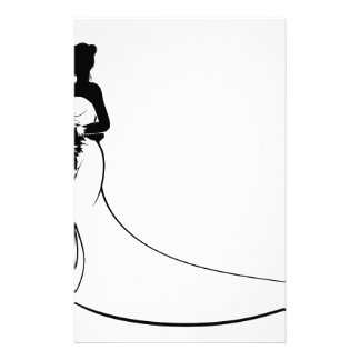 Bride and Groom Silhouette Wedding Concept Stationery