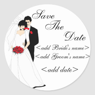 Bride and Groom Stickers