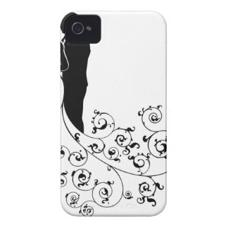 Bride and Groom Wedding Concept Silhouette iPhone 4 Case-Mate Cases