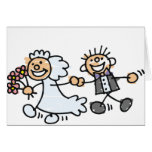 Bride And Groom Wedding Elope Elopement Cards