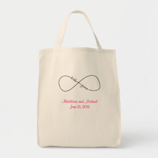 Bride and Groom Wedding Infinity Tote Bag