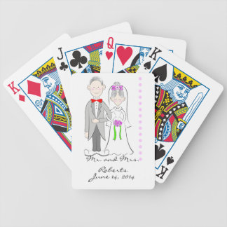 Bride and Groom Wedding Playing Cards