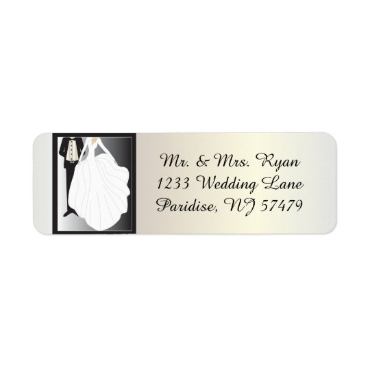 Bride and Groom Wedding Return Address Label