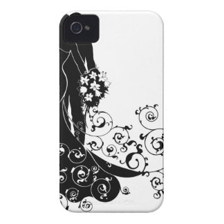 Bride and Groom Wedding Silhouette iPhone 4 Cover
