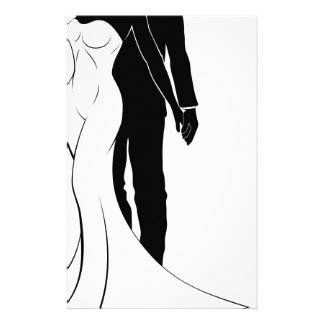 Bride and Groom Wedding Silhouette Stationery