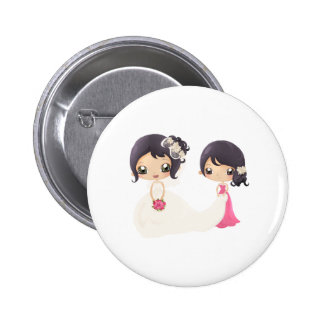 Bride and Maid of Honor 2 Inch Round Button