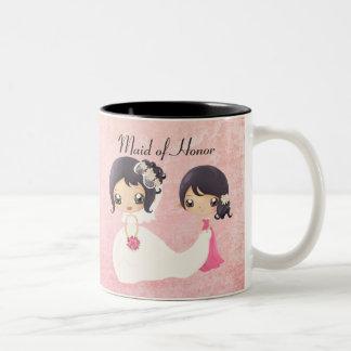 Bride and Maid of Honor Two-Tone Mug