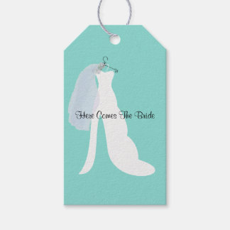 Bride And Veil Here Comes The Bride Party Tags