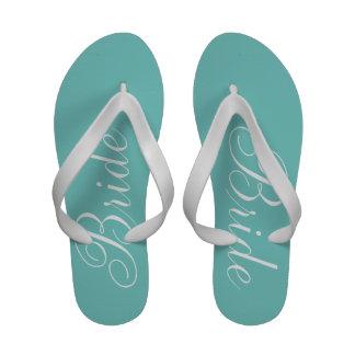 Bride aqua Flip-Flops