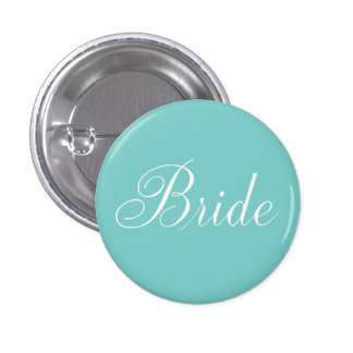 Bride aqua pinback buttons