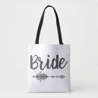 Bride Arrow & Monogram Tote Bag