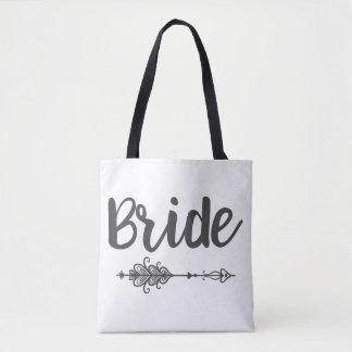 Bride Arrow & Name Tote Bag