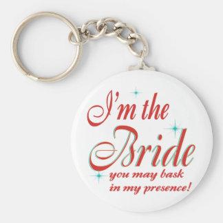 bride-bask in presence basic round button keychain