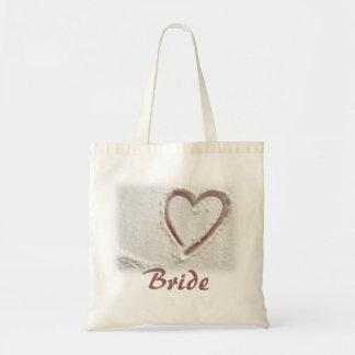 Bride Beach Heart of Sand Tote Bag