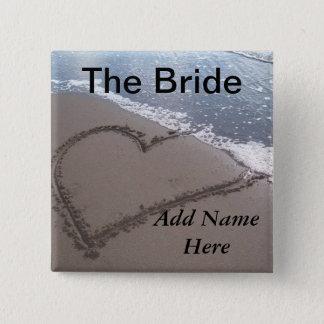 Bride Beach Wedding Button