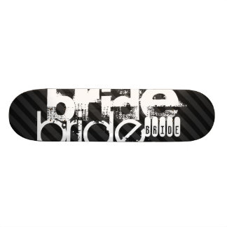 Bride; Black & Dark Gray Stripes Skateboard Deck