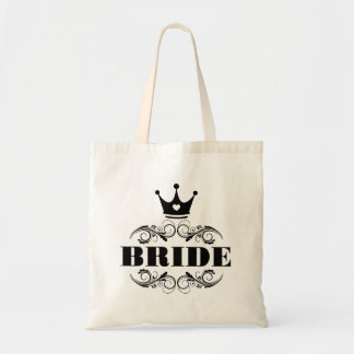 Bride Black on Custom Background Tote Bag
