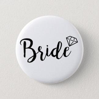 Bride Bling Diamond 2 Inch Round Button