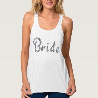 Bride bling tank top