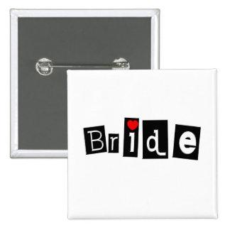 Bride Blk Sq Button