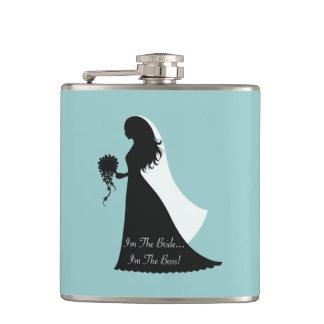 Bride Boss (teal) Flasks