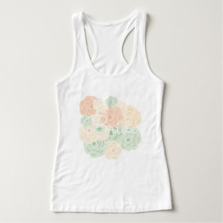 Bride Bouquet Pastel Floral Tank Top