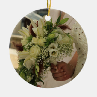 Bride & Bouquet Save the Date Ornament
