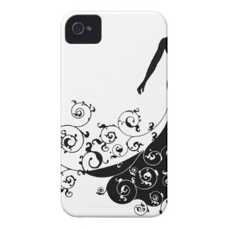 Bride Bouquet Wedding Silhouette Abstract iPhone 4 Cover